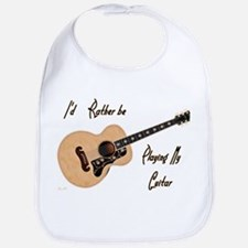 Playing My Guitar Baby Bib
