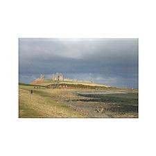 Dunstanburgh Castle Rectangle Magnet