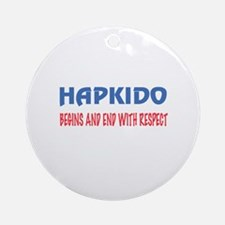 Hapkido Begins and end with respect Round Ornament