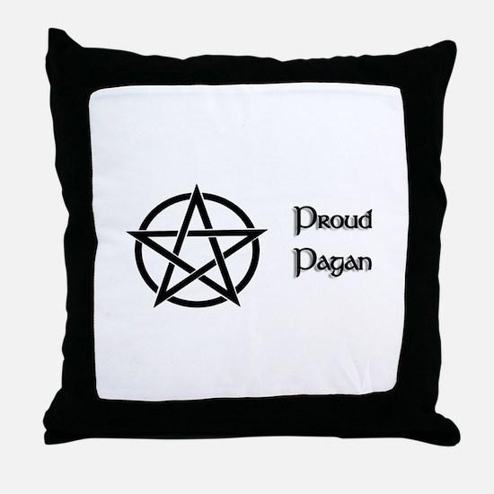 Proud Pagan Throw Pillow