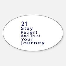 Awesome 21 Birthday Designs Sticker (Oval)