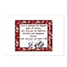 Love~Game of Chance Postcards (Package of 8)