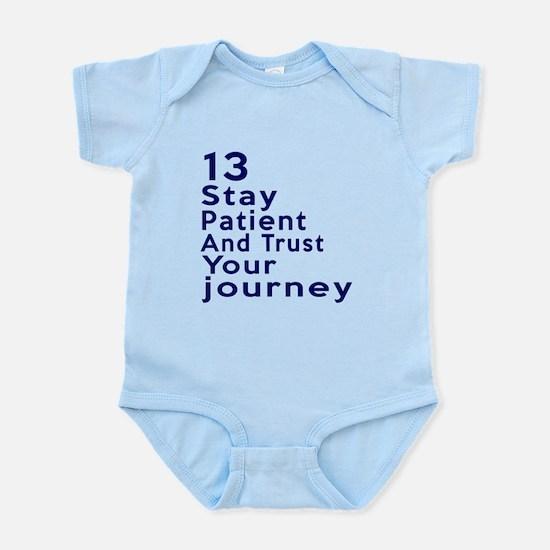 Awesome 13 Birthday Designs Infant Bodysuit