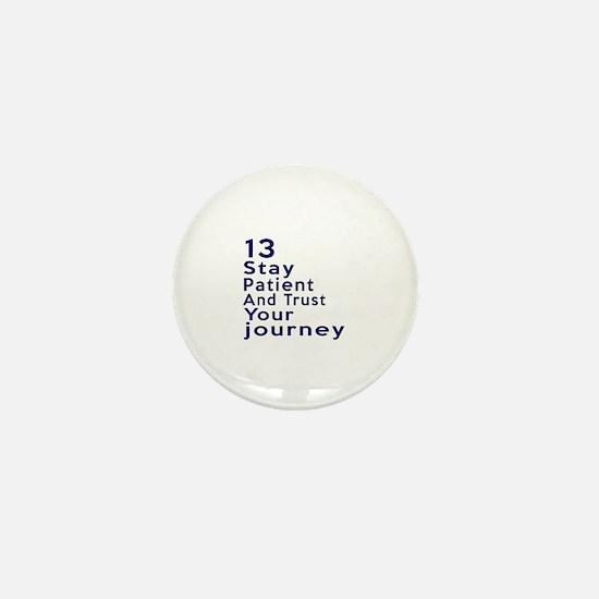 Awesome 13 Birthday Designs Mini Button