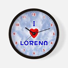 I Love Lorena (Red/Bl) Valentine Wall Clock