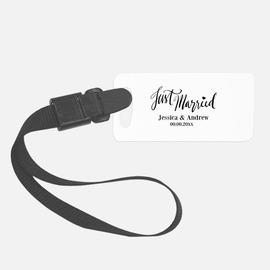 Just Married Custom Wedding Luggage Tag