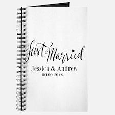 Just Married custom wedding Journal