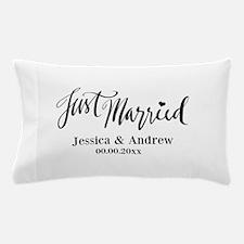 Beautiful Just Married Custom Wedding Pillow Case