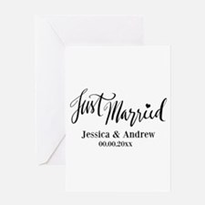Just Married custom wedding Greeting Cards