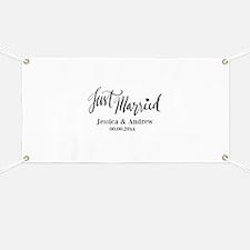 Just Married custom wedding Banner