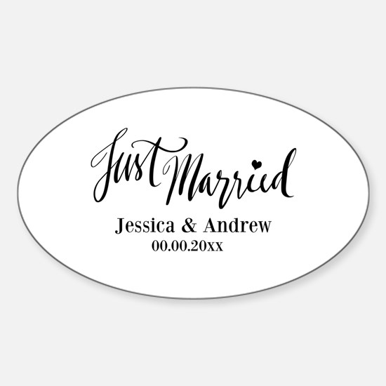 Just Married custom wedding Decal
