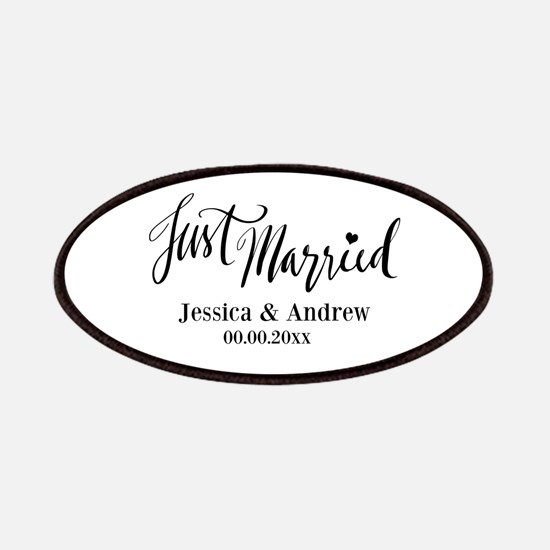 Just Married custom wedding Patch