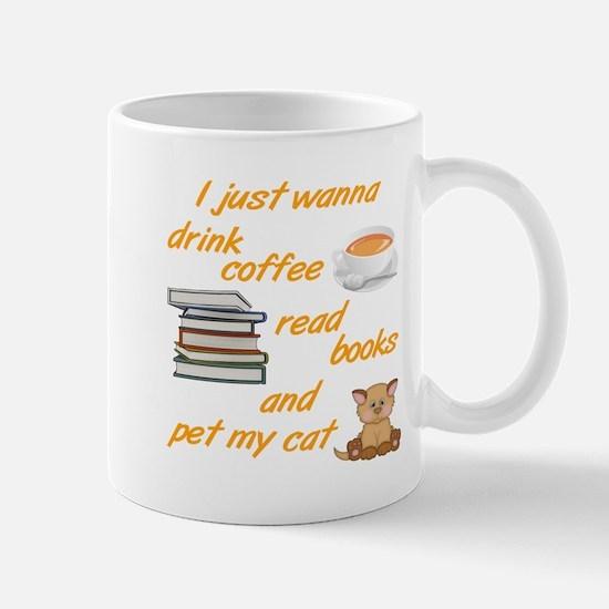 Coffee Books Cats Mugs