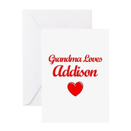 Grandma Loves Addison Greeting Card