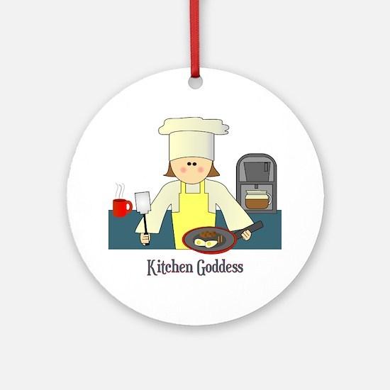 Kitchen Goddess Ornament (Round)