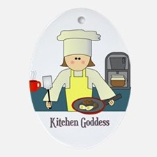 Kitchen Goddess Oval Ornament