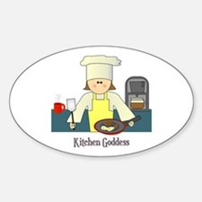 Kitchen Goddess Oval Decal