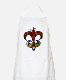 Boil Me Hot with Crawfish Fleur de Lis Apron
