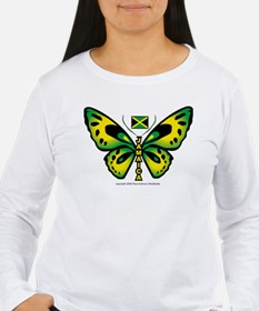 Jamaica Butterfly Long Sleeve T-Shirt