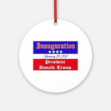 President Donald Trump 2017 Round Ornament