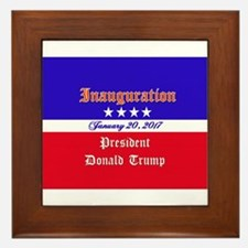 President Donald Trump 2017 Framed Tile