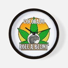 Colorado roll a blunt Wall Clock