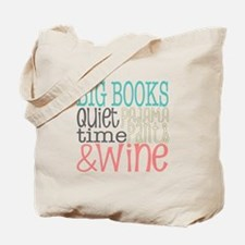 Big Books Pajama Quiet Wine 4 Tote Bag
