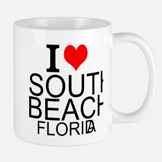 I Love South Beach, Florida Mugs