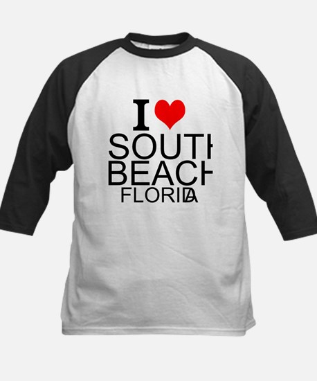 I Love South Beach, Florida Baseball Jersey