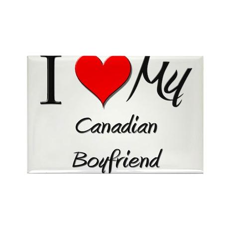 I Love My Canadian Boyfriend Rectangle Magnet (10