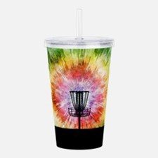 Tie Dye Disc Golf Basket Acrylic Double-wall Tumbl