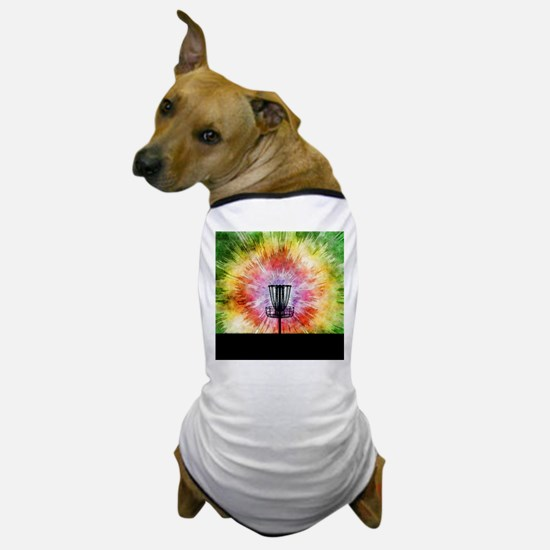 Tie Dye Disc Golf Basket Dog T-Shirt