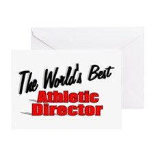 """The World's Best Athletic Director"" Greeting Card"