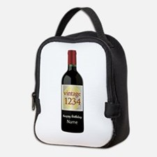 Custom Year and Name Wine Neoprene Lunch Bag