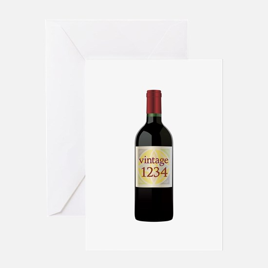 Custom Vintage Wine Greeting Cards