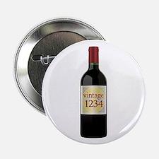"Custom Vintage Wine 2.25"" Button"