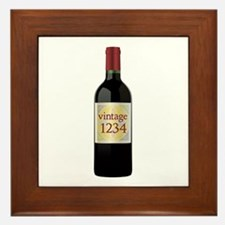 Custom Vintage Wine Framed Tile