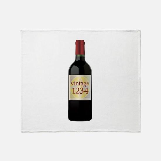 Custom Vintage Wine Throw Blanket