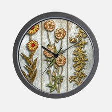 Flowers and Shrub Wall Clock