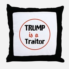 Trump is a traitor Throw Pillow