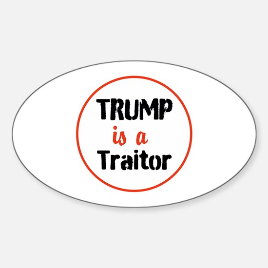 Trump is a traitor Decal