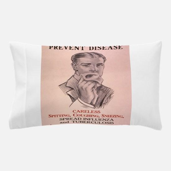 Vintage poster - Prevent Disease Pillow Case