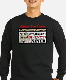 Official Gun Permit Long Sleeve T-Shirt