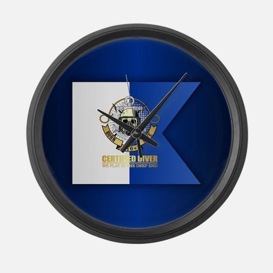 Alpha Flag (CD) Large Wall Clock