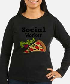 Social Worker Funny Pizza Long Sleeve T-Shirt