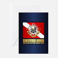 Certified Diver (BTD) Greeting Cards