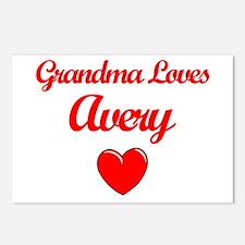 Grandma Loves Avery Postcards (Package of 8)