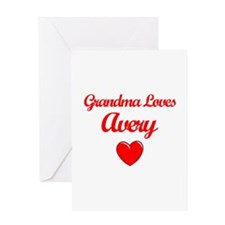 Grandma Loves Avery Greeting Card