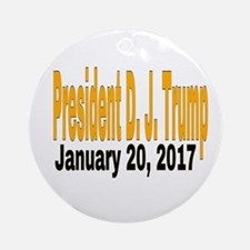 President D.J. Trump Round Ornament