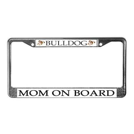 Bulldog Mom License Plate Frame